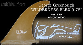 George Greenough Wilderness Flex 4A fin 9.75