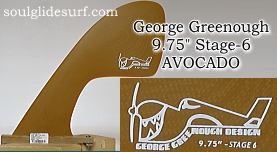 "George Greenough 9.75"" Stage-6 AVOCADO SAND"