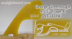 "George Greenough 9.75"" Stage-6 YELLOW SAND"